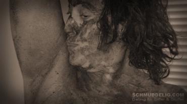 Schmutzige Frau mit Aroma